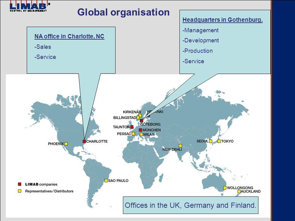 Global organisation Headquarters in Gothenburg.