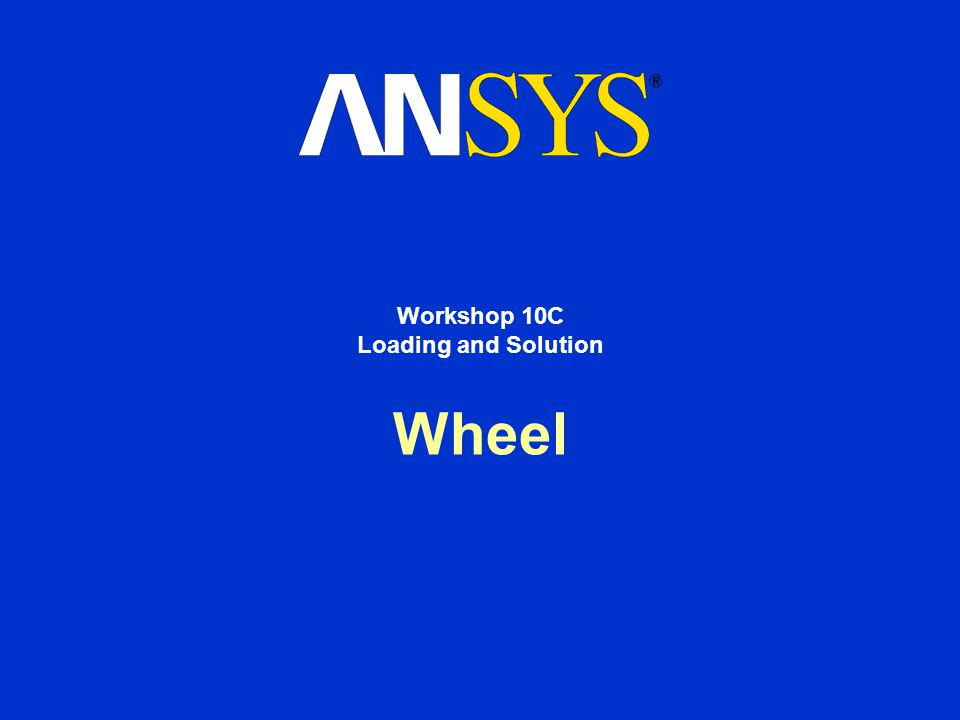 Wheel Workshop 10C Loading and Solution