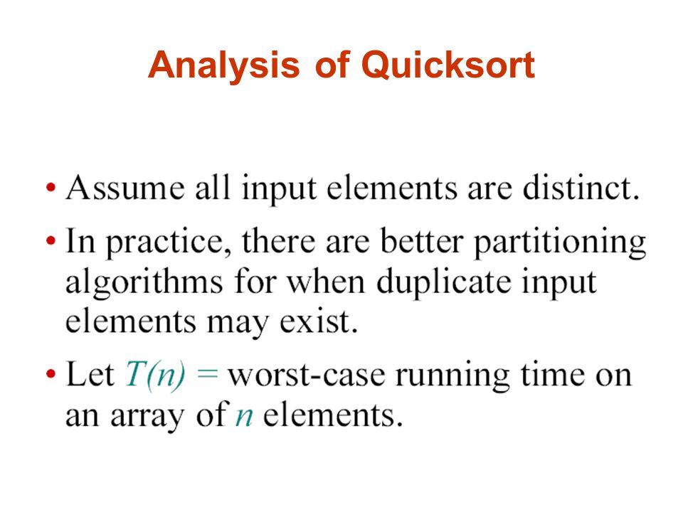 Analysis of Quicksort