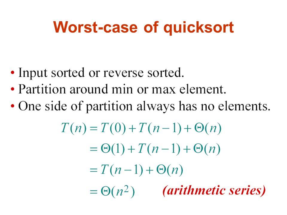 Worst-case of quicksort