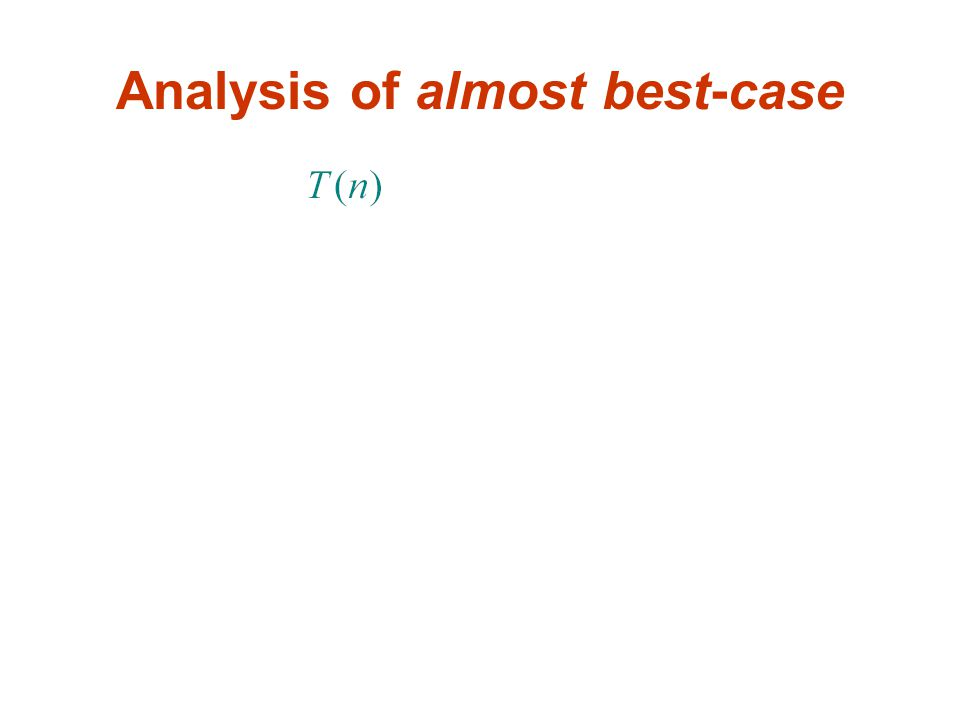 Analysis of almost best-case