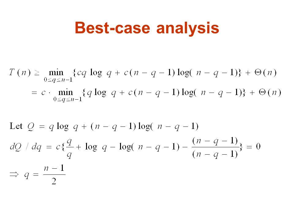 Best-case analysis