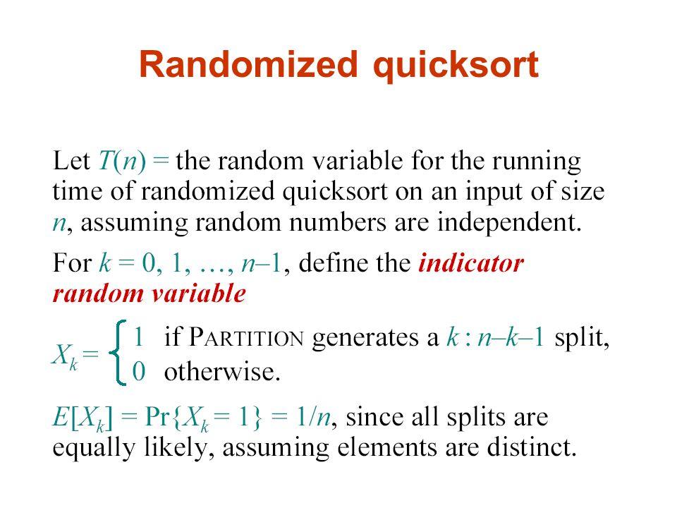 Randomized quicksort