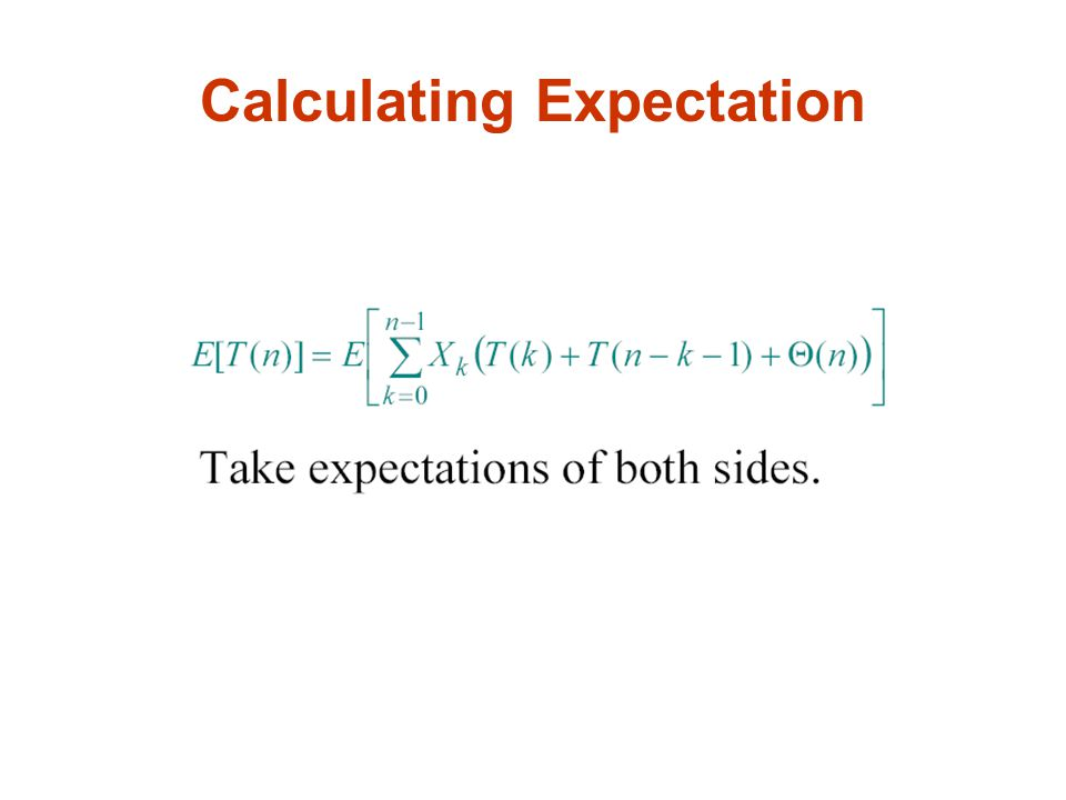 Calculating Expectation