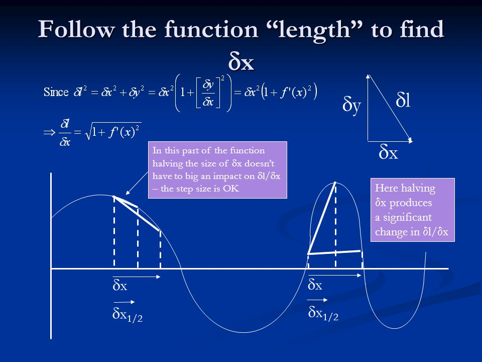 "Follow the function ""length"" to find  x yy xx ll xx  x 1/2 xx In this part of the function halving the size of  x doesn't have to big an"
