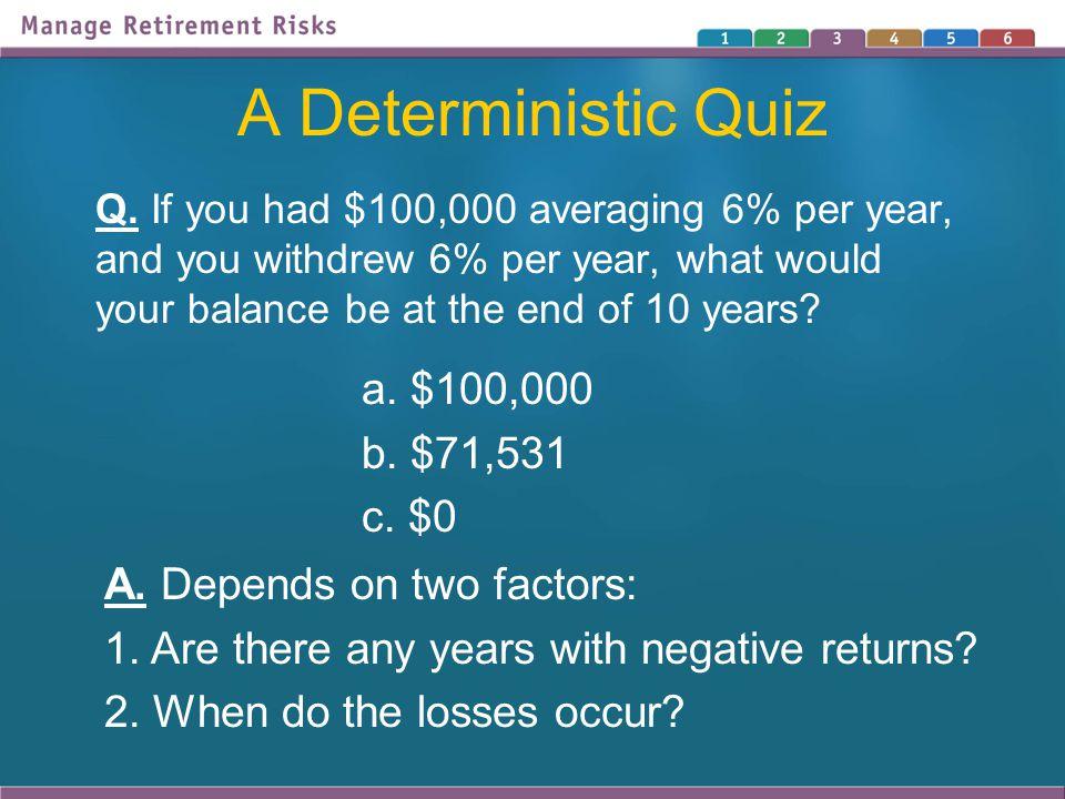 A Deterministic Quiz Q.