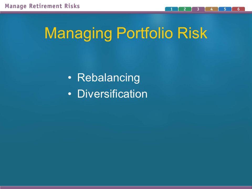 Managing Portfolio Risk Rebalancing Diversification