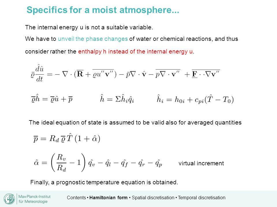 Contents Hamiltonian form Spatial discretisation Temporal discretisation Towards flux form equations...