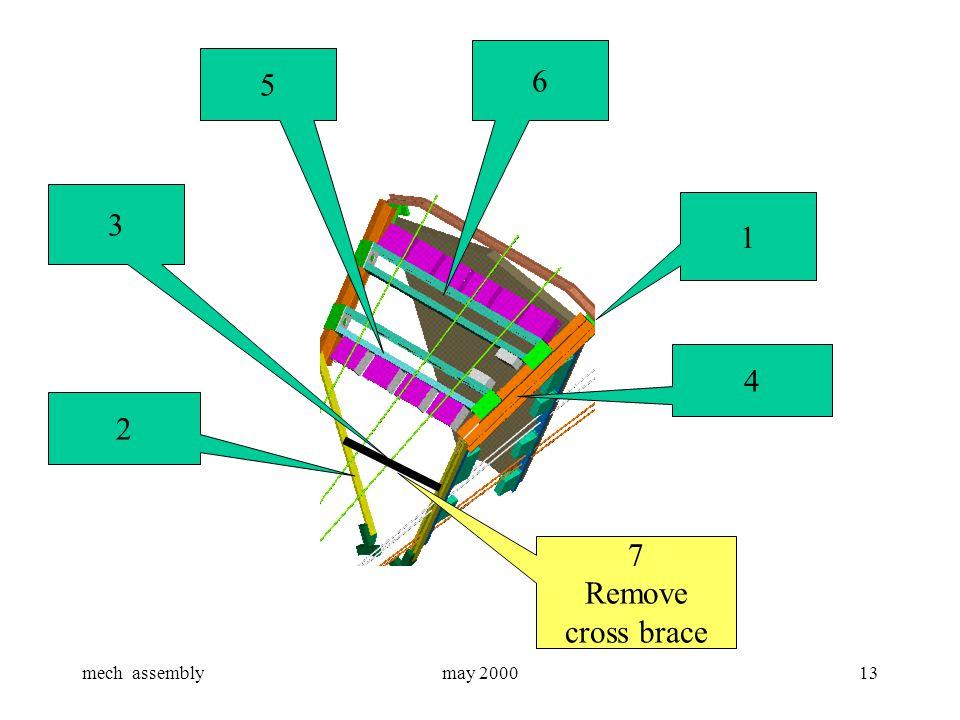 mech assemblymay 200013 3 1 2 7 Remove cross brace 6 5 4