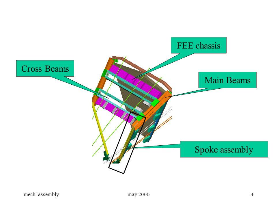 mech assemblymay 20004 Spoke assembly Main Beams FEE chassis Cross Beams