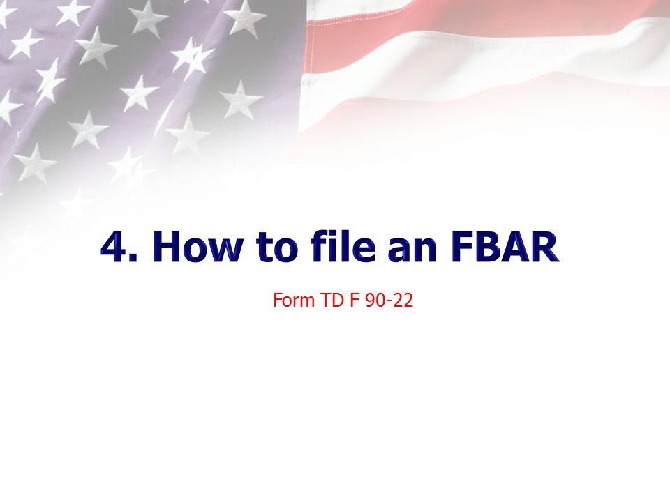 Form TD F 90-22