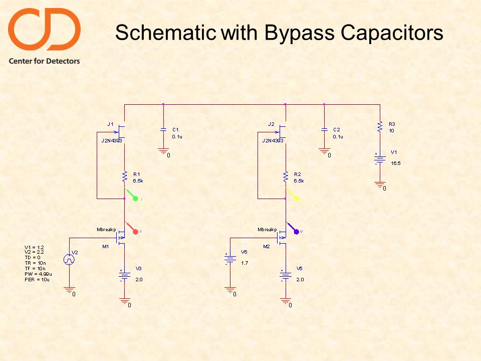 Schematic with Bypass Capacitors