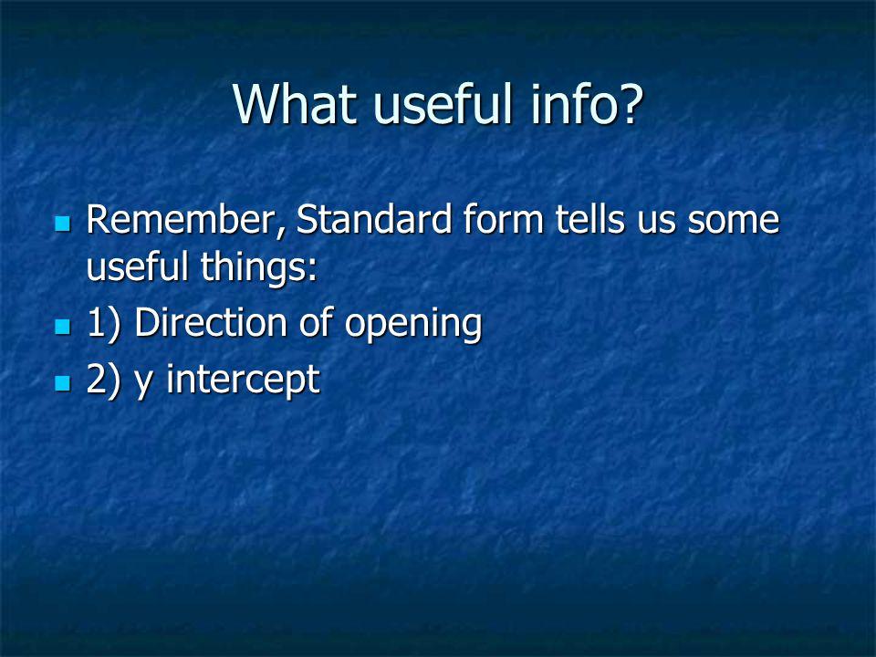 What useful info.