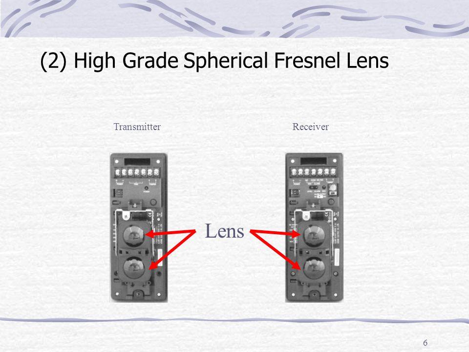 6 (2) High Grade Spherical Fresnel Lens TransmitterReceiver Lens