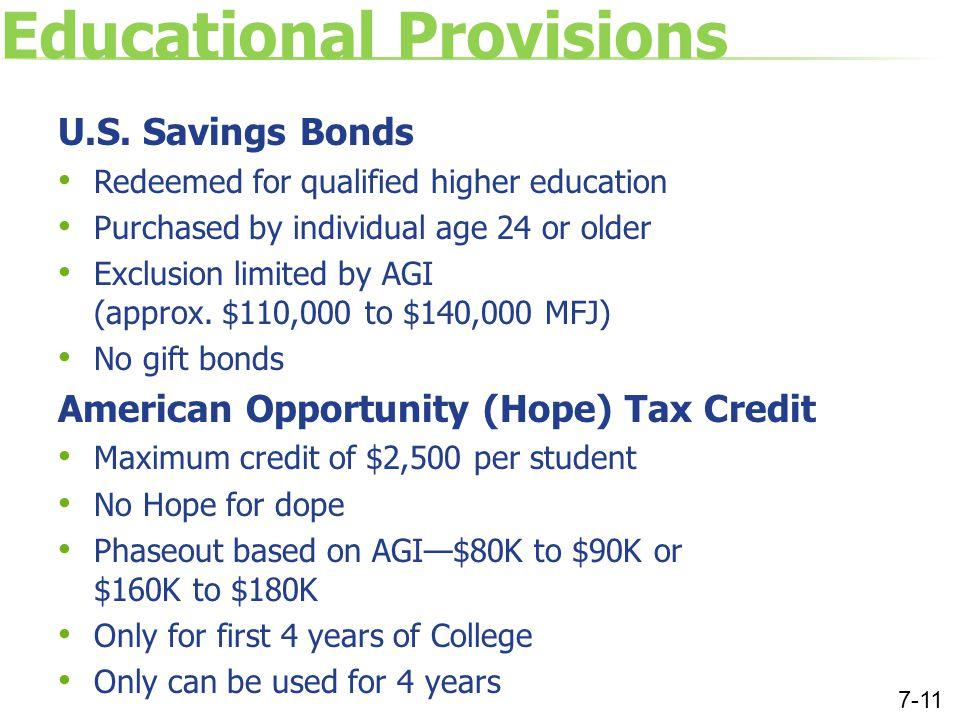 Educational Provisions U.S.
