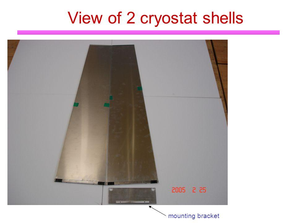 View of 2 cryostat shells mounting bracket