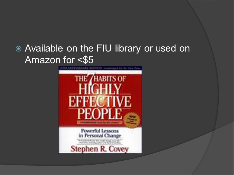  Available on the FIU library or used on Amazon for <$5