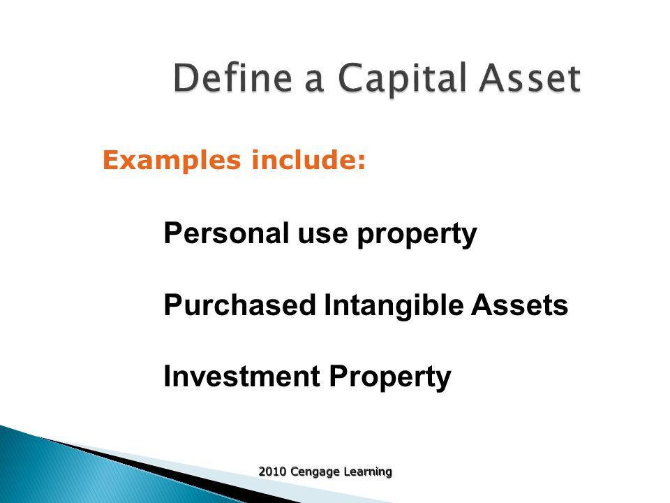 2010 Cengage Learning  Business casualty and theft losses result from damage caused by a sudden, unexpected and/or unusual event ◦ For property fully destroyed, deduct adjusted basis ◦ For property partially destroyed, deduct the lesser of the property's adjusted basis or the decline in the value  Any insurance reimbursement reduces loss  May cause gain