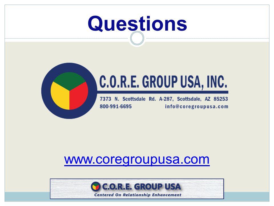 www.coregroupusa.com Questions