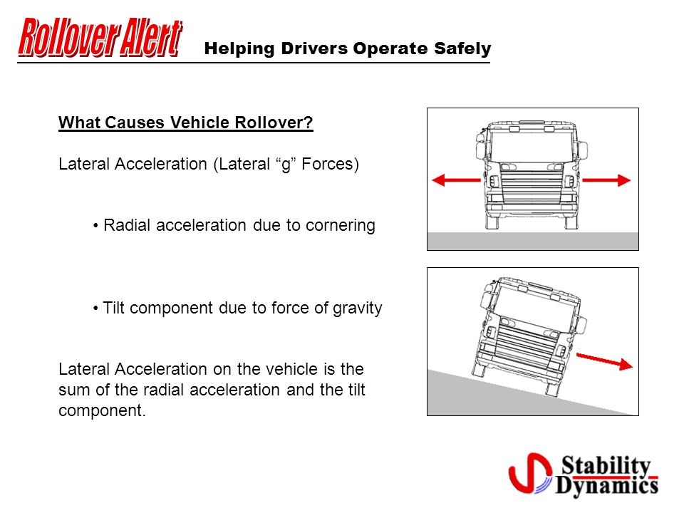 Helping Drivers Operate Safely What Causes Vehicle Rollover.