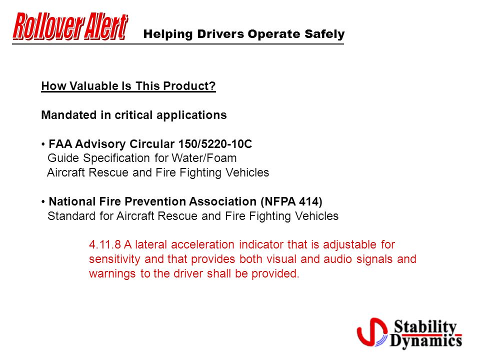 Helping Drivers Operate Safely How Valuable Is This Product.