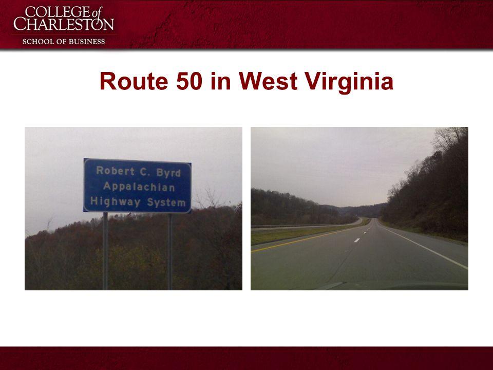 Route 50 in West Virginia