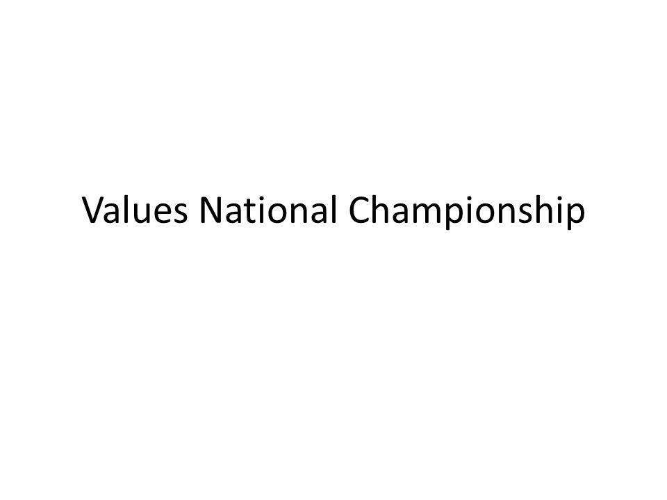 Values National Championship