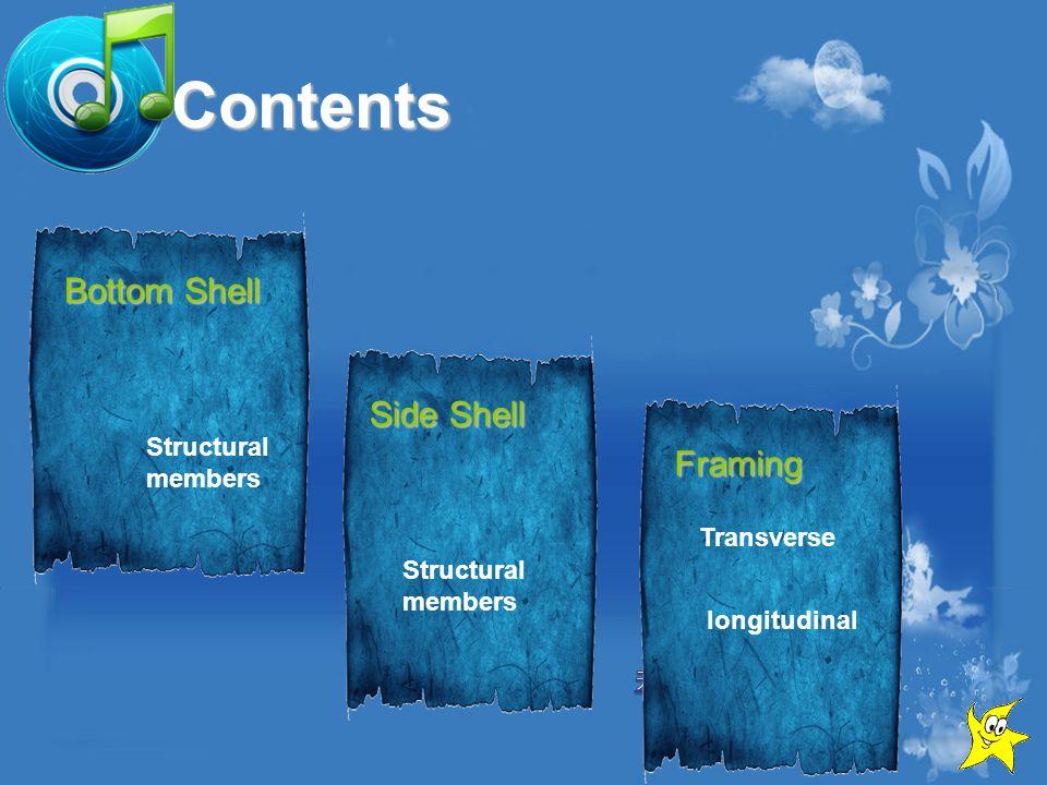 Contents Bottom Shell Side Shell Framing Transverse longitudinal Structural members