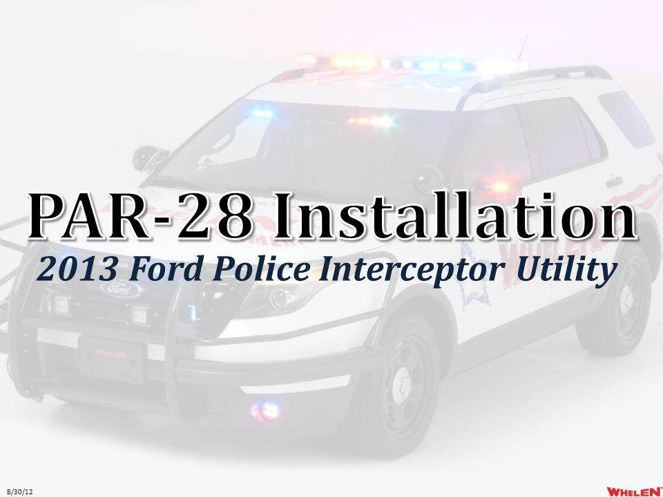 8/30/12 2013 Ford Police Interceptor Utility