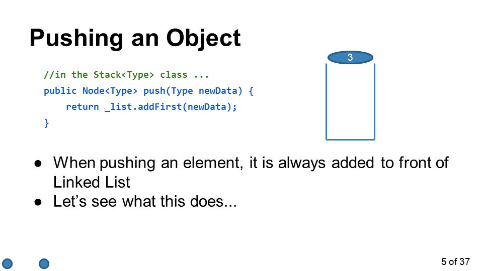 6 of 37 Popping an Object //in the Stack class...