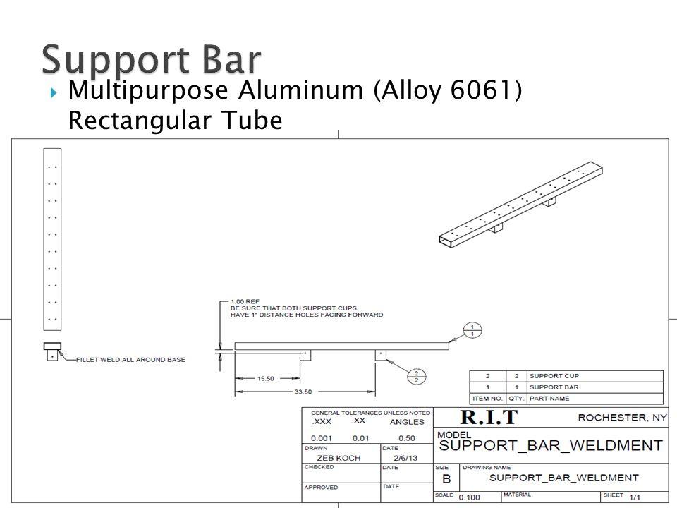  Multipurpose Aluminum (Alloy 6061) Rectangular Tube