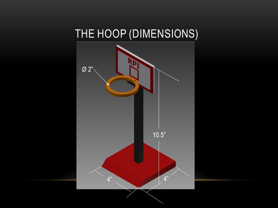 "THE HOOP (DIMENSIONS) 10.5"" 4"" Ø 2"""