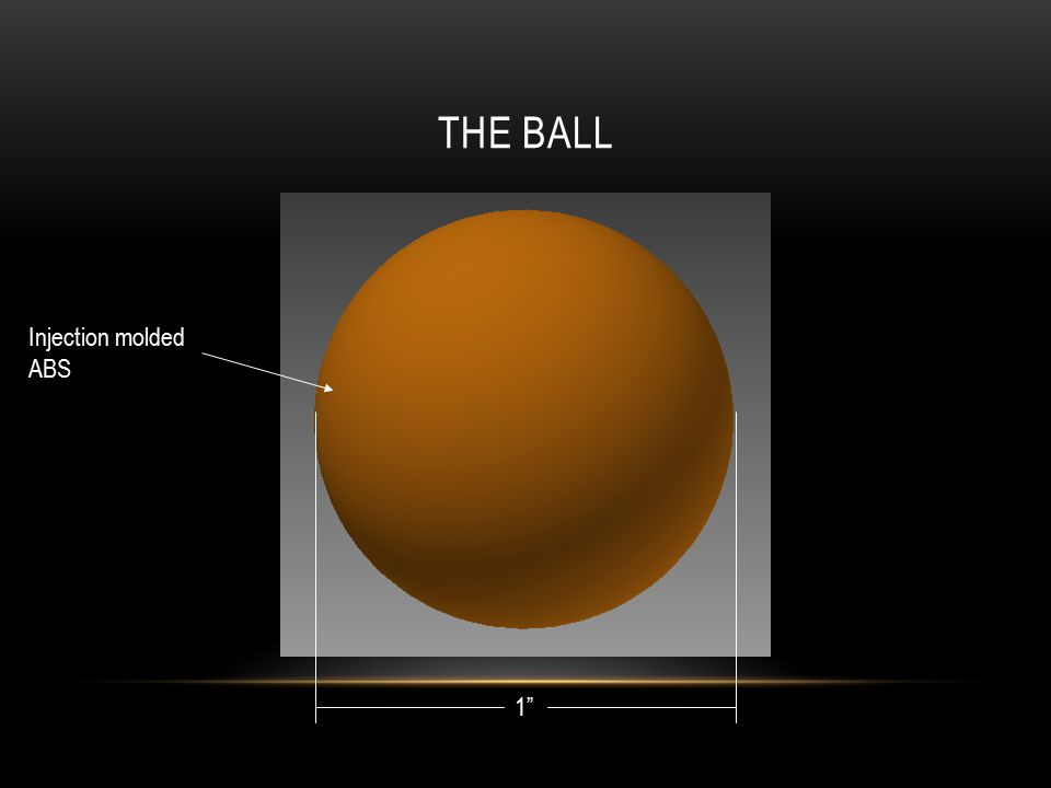 "THE BALL 1"" Injection molded ABS"