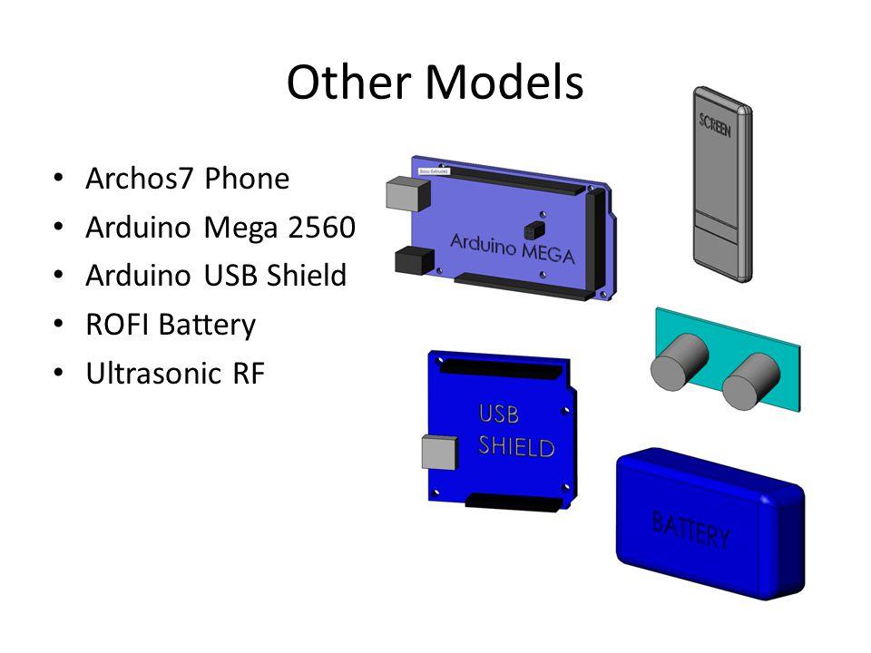 Other Models Archos7 Phone Arduino Mega 2560 Arduino USB Shield ROFI Battery Ultrasonic RF