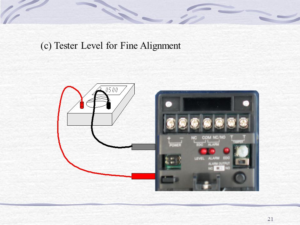 21 (c) Tester Level for Fine Alignment