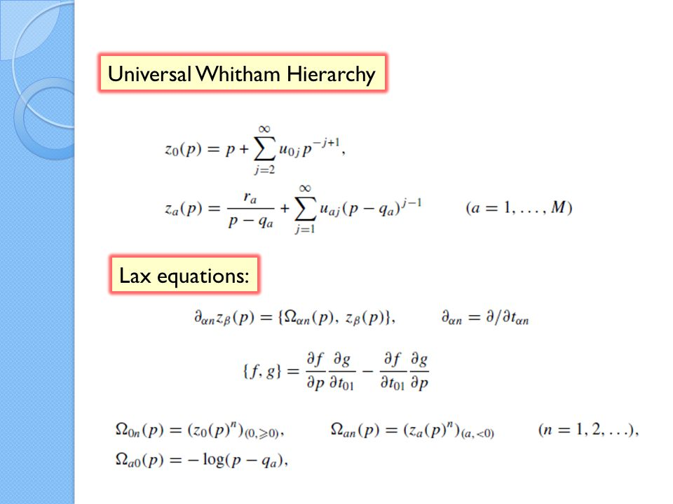 Universal Whitham Hierarchy Lax equations: