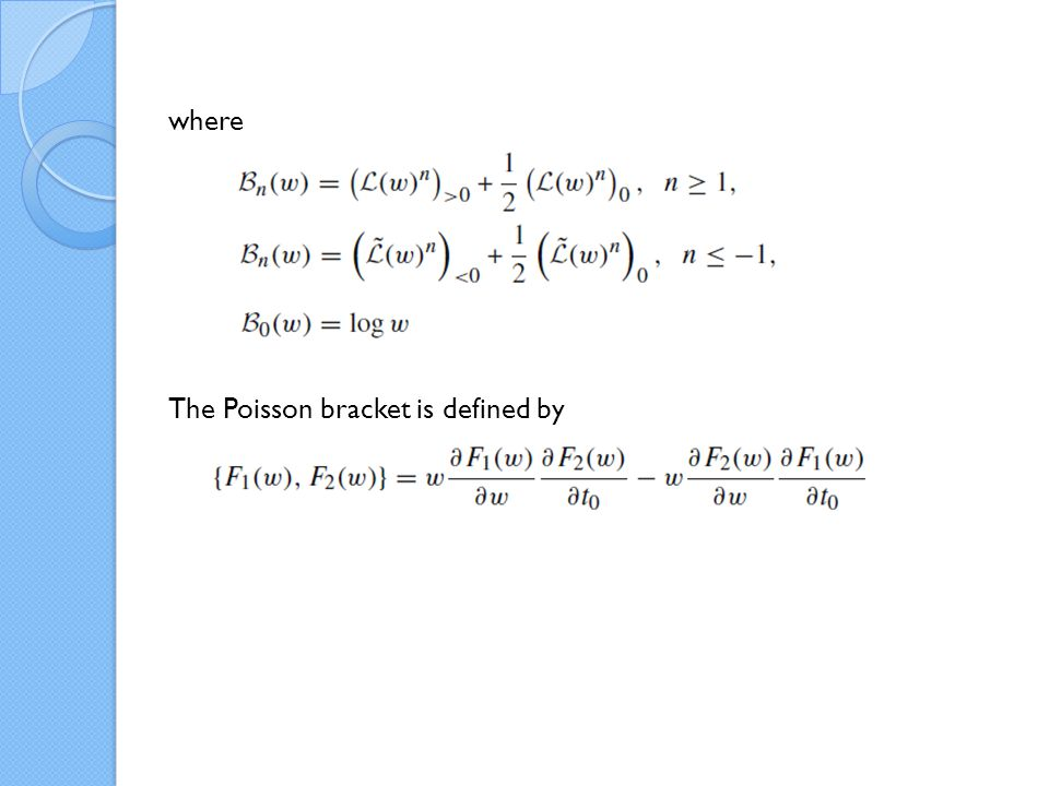 We find that and we have the generalized string equation: Such a solution is said to be nondegenerate.