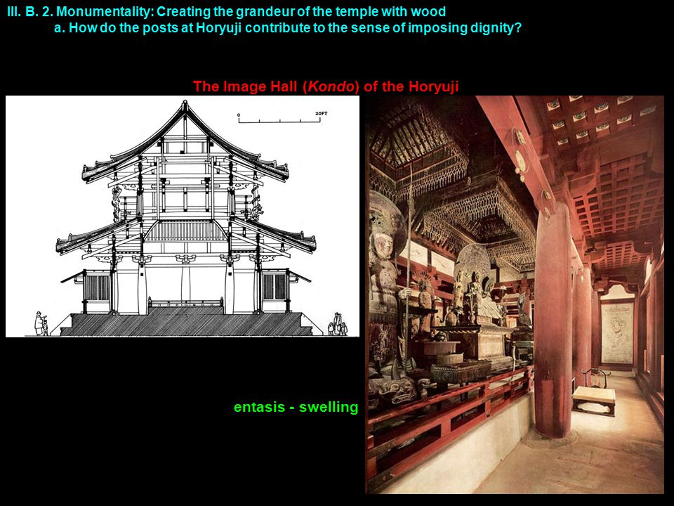 III.B. 2. Monumentality: Creating the grandeur of the temple with wood a.