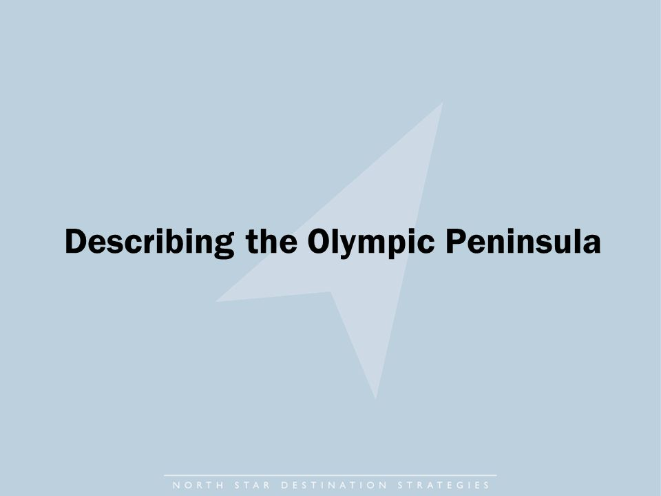 Describing the Olympic Peninsula