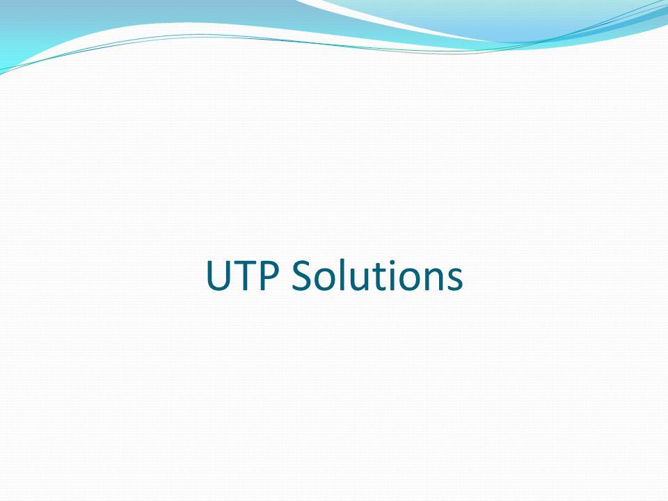 UTP Solutions