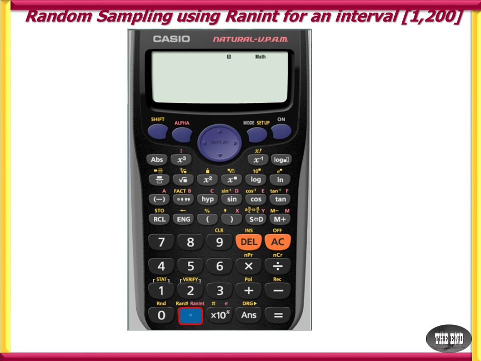 We want our interval to be [1,200] Random Sampling using Ranint for an interval [1,200]