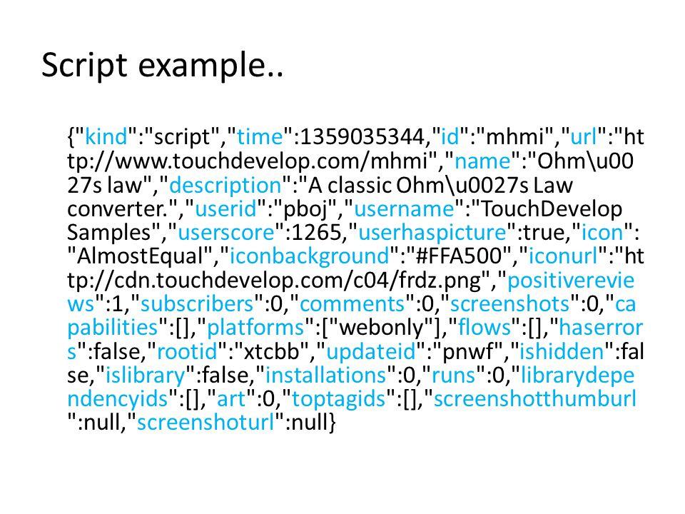 Script example.. {