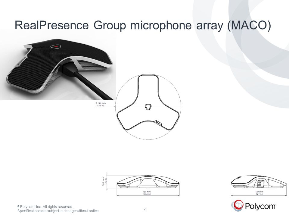 © Polycom, Inc. All rights reserved.23 65 RealPresence Group Series Media Centers