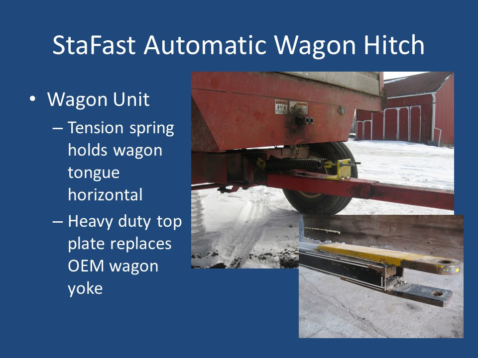 StaFast Automatic Wagon Hitch Wagon Unit – Tension spring holds wagon tongue horizontal – Heavy duty top plate replaces OEM wagon yoke