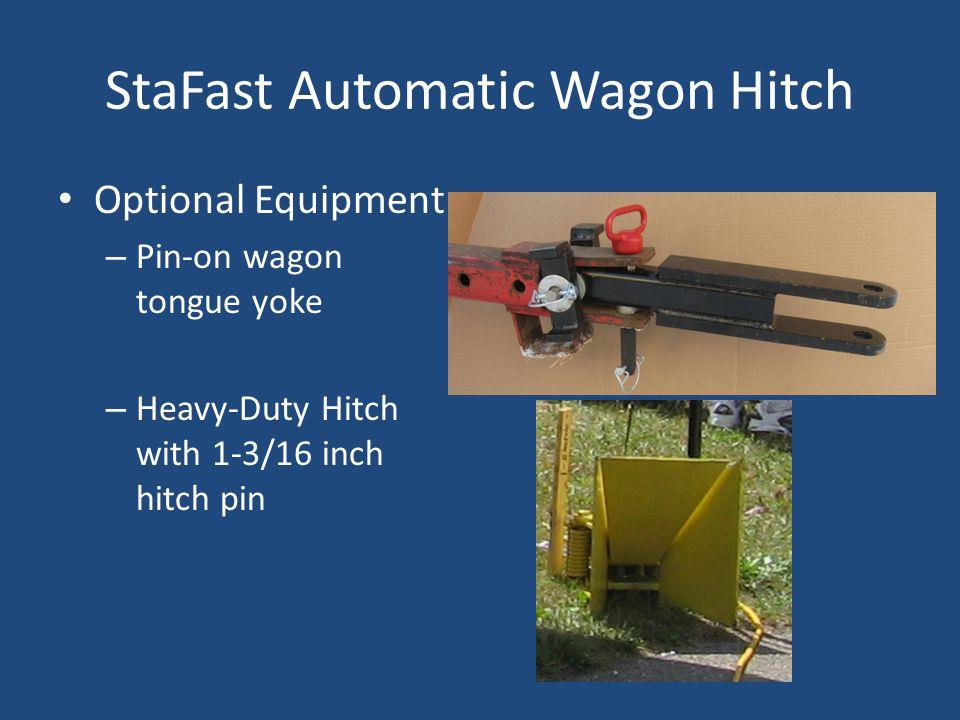 StaFast Automatic Wagon Hitch Optional Equipment – Pin-on wagon tongue yoke – Heavy-Duty Hitch with 1-3/16 inch hitch pin