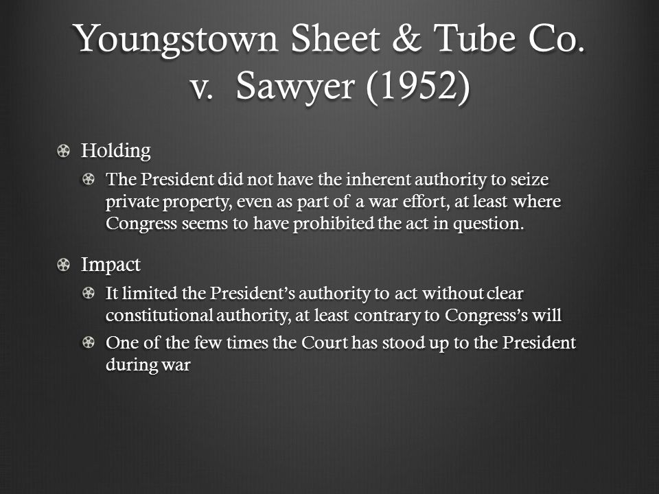 Youngstown Sheet & Tube Co. v.