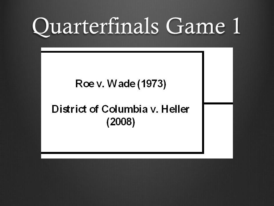 Quarterfinals Game 1