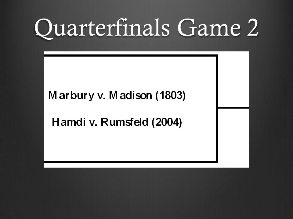 Quarterfinals Game 2