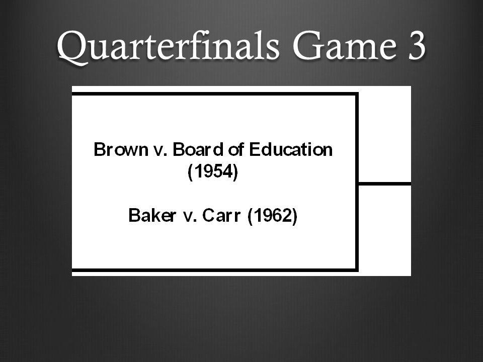 Quarterfinals Game 3