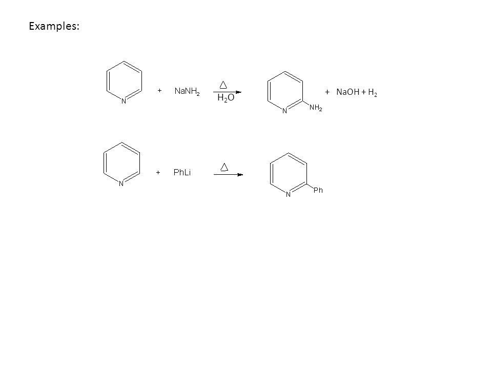 Examples: H2OH2O + NaOH + H 2